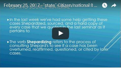 Level II Passport state Citizenship Training